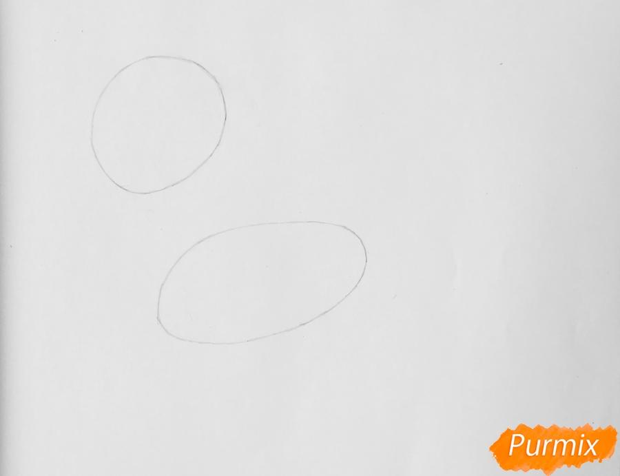 Рисуем Леди Баг в образе пони - шаг 1
