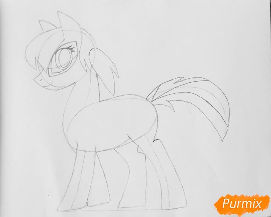 Рисуем Леди Баг в образе пони - шаг 7