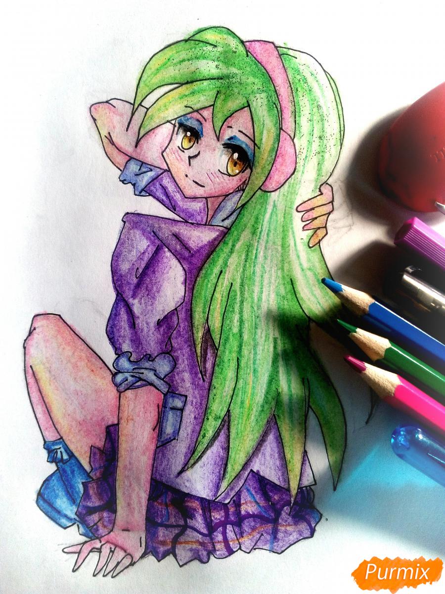 Как нарисовать Лемон Зест из Девочки из Эквестрии карандашом поэтапно