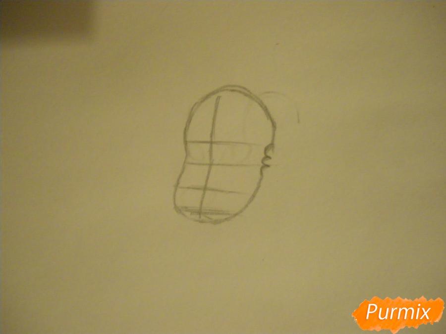 Рисуем льва Стивена из Вселенная Стивена карандашами - шаг 1