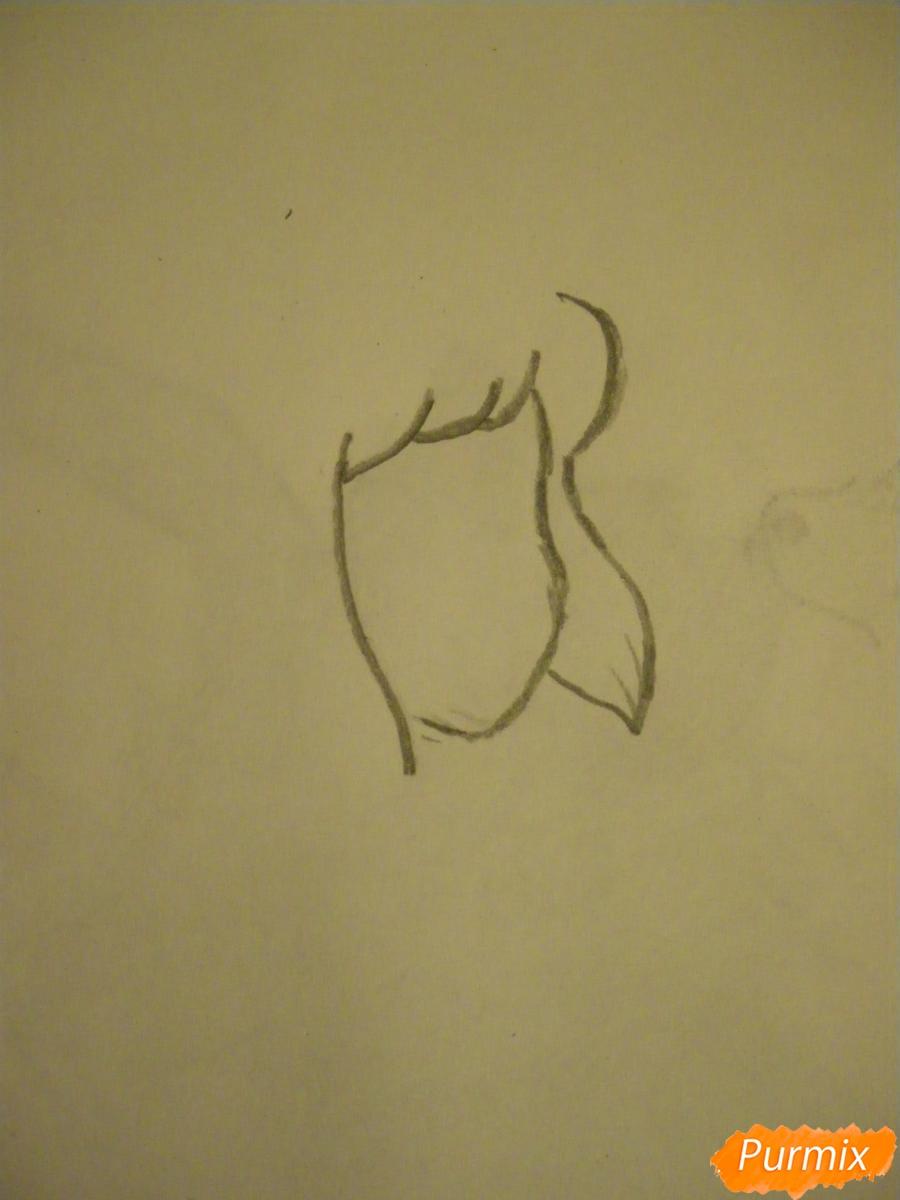 Рисуем Ляпис Лазурит из Вселенная Стивена карандашами - шаг 1