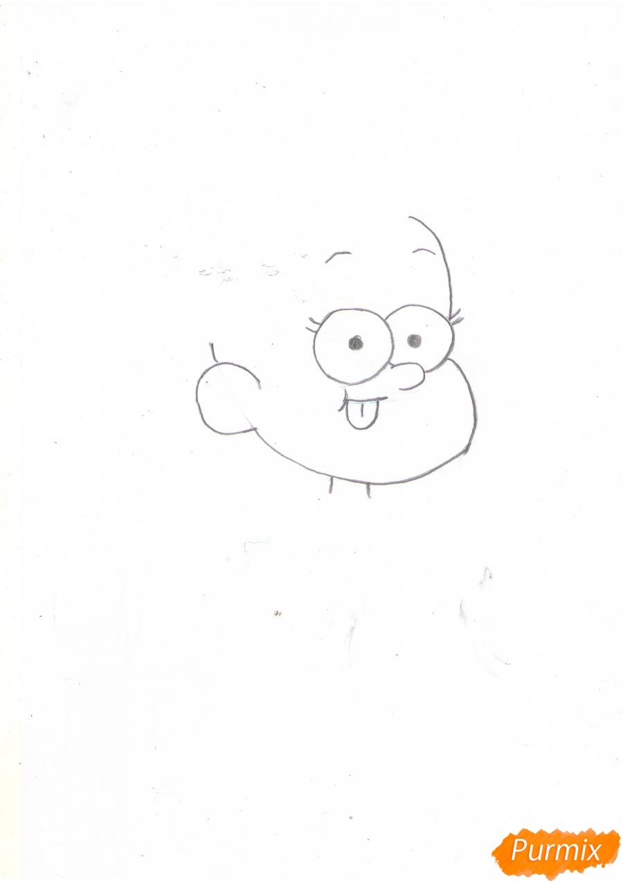 Рисуем Мэйбл Пайнс из Гравити Фолз карандашами - шаг 2