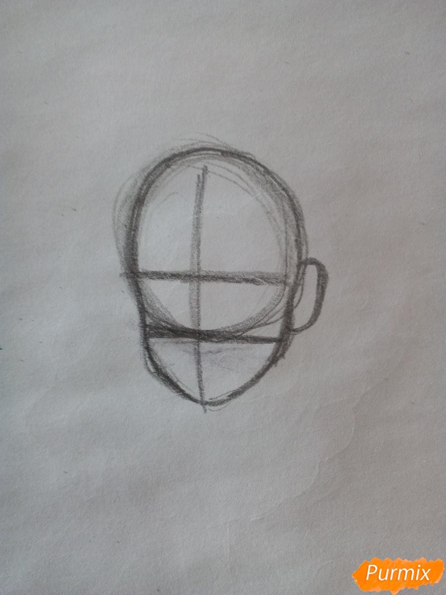 Рисуем Мейбл с жвачкой - шаг 1