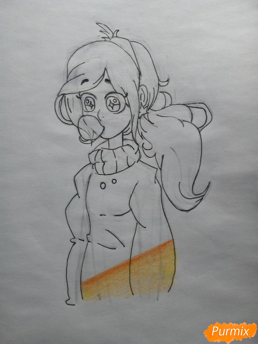 Рисуем Мейбл с жвачкой - шаг 10