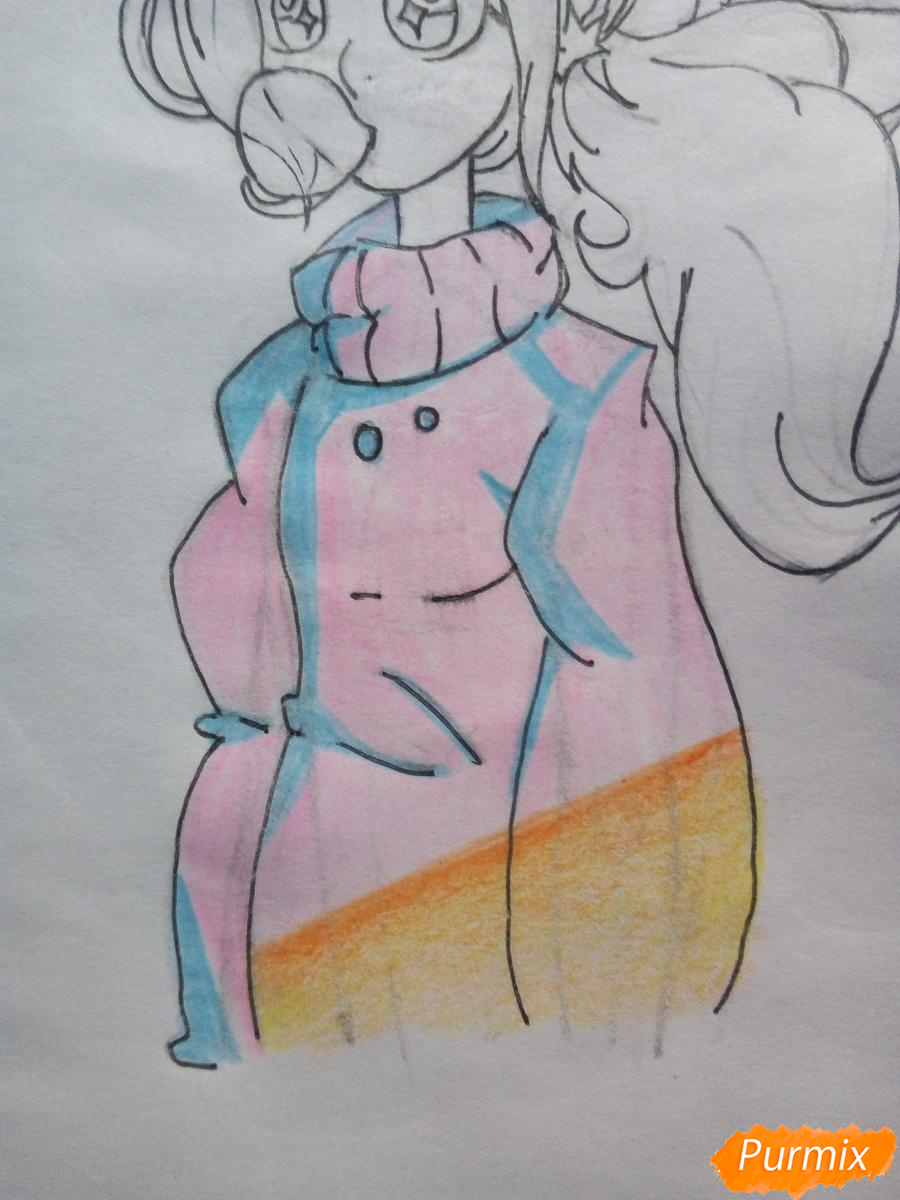 Рисуем Мейбл с жвачкой - шаг 11