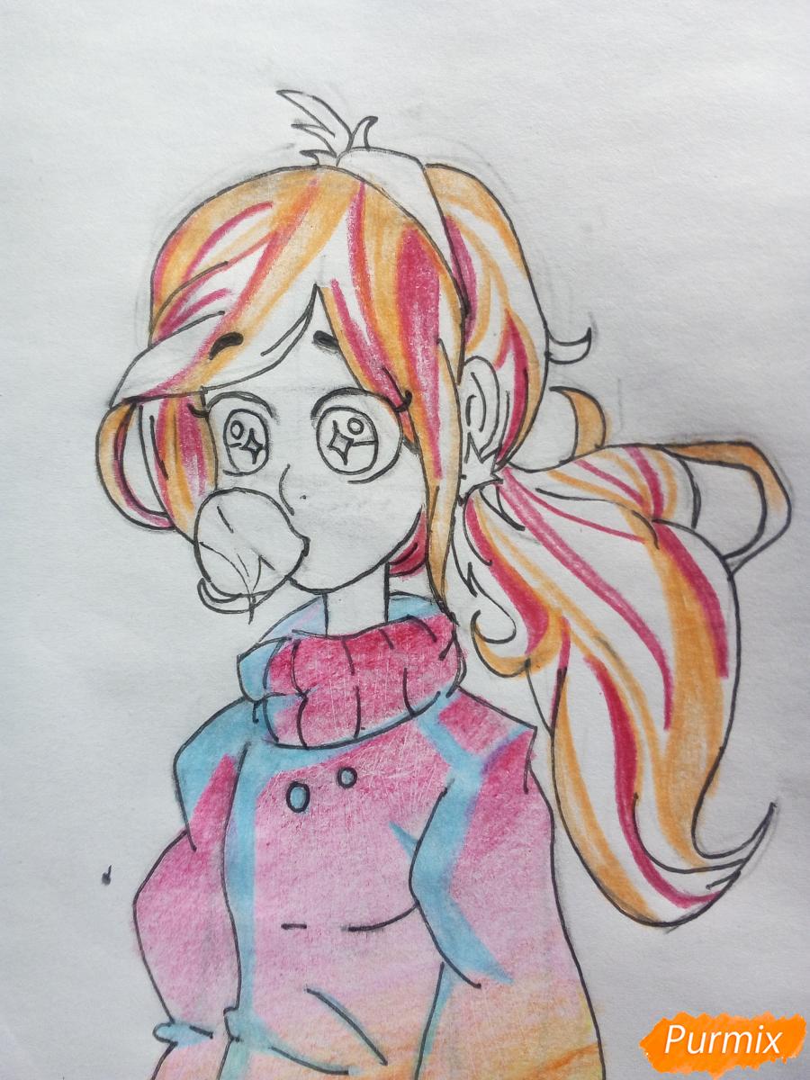 Рисуем Мейбл с жвачкой - шаг 14