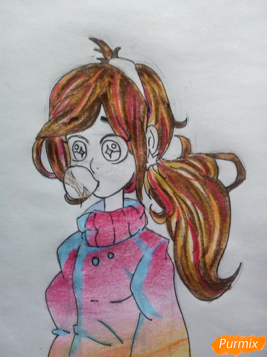 Рисуем Мейбл с жвачкой - шаг 15