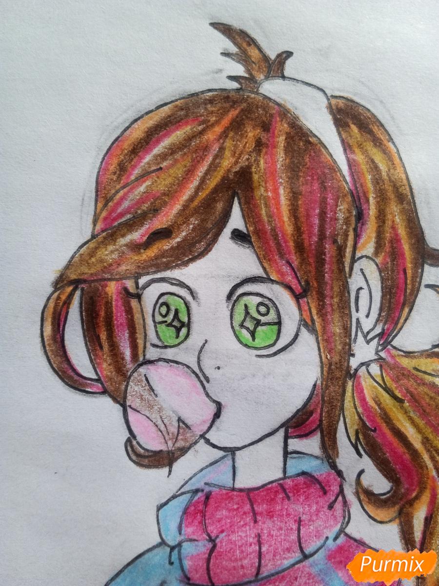 Рисуем Мейбл с жвачкой - шаг 16