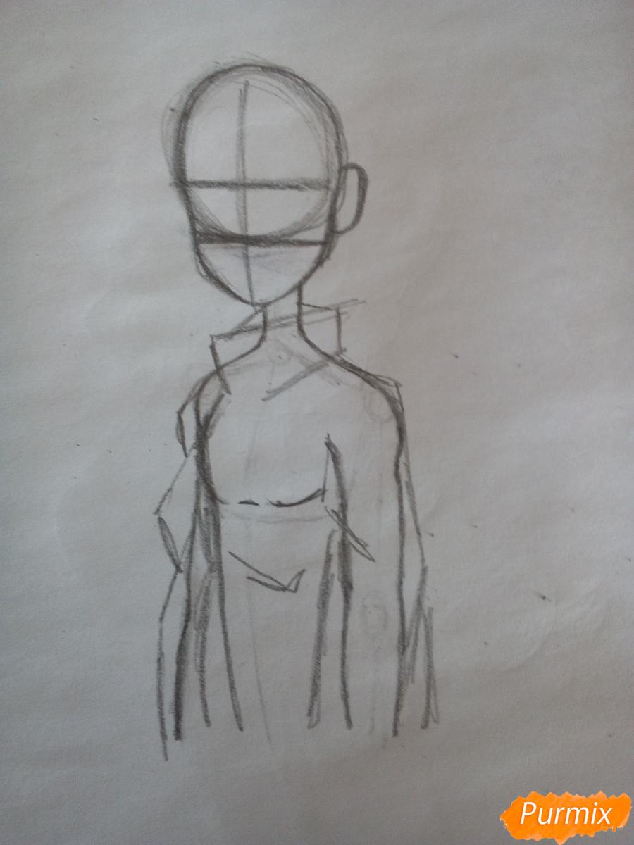 Рисуем Мейбл с жвачкой - шаг 4