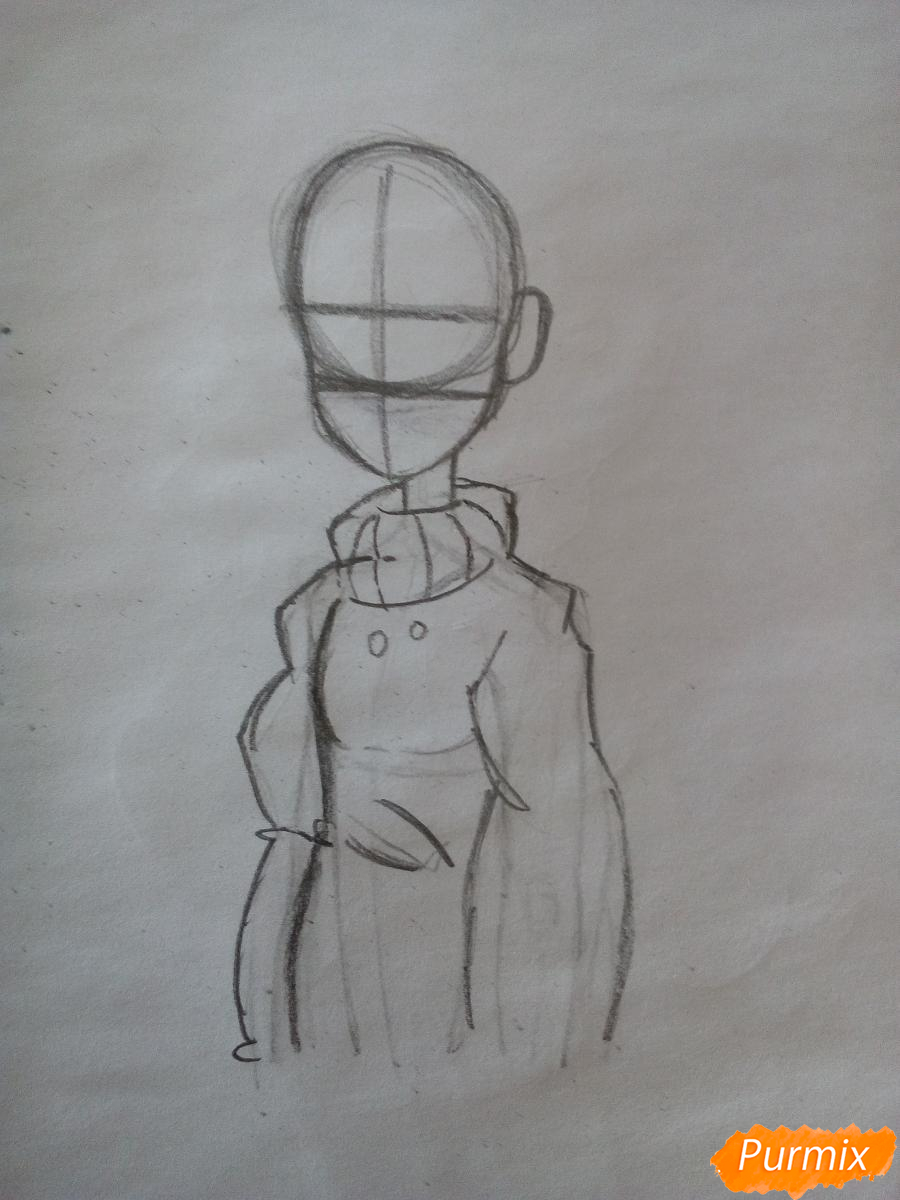 Рисуем Мейбл с жвачкой - шаг 5