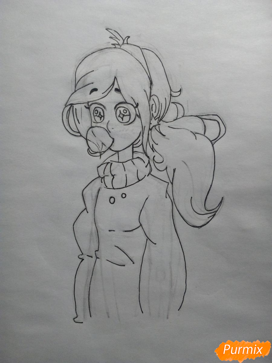 Рисуем Мейбл с жвачкой - шаг 9