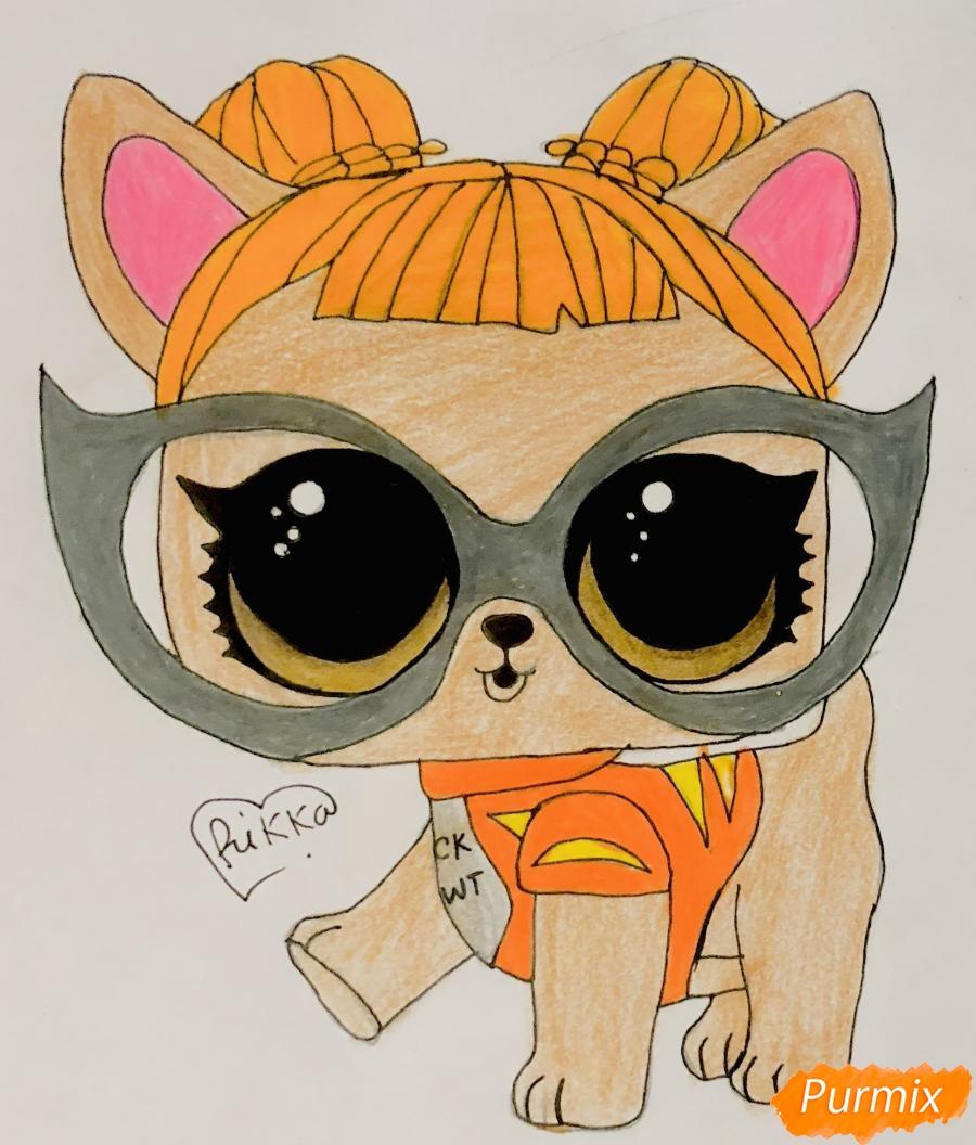 Рисуем модную собачку чихуахуа из мультфильма Lol pets - шаг 10