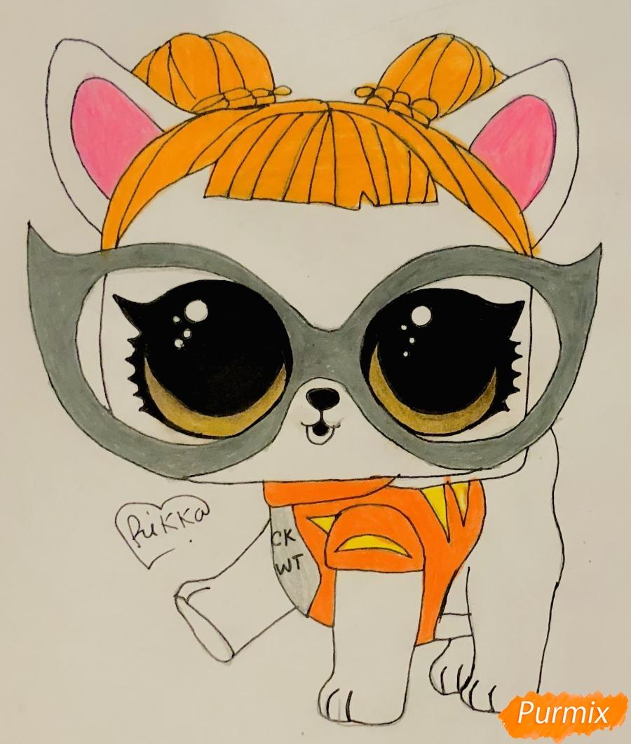 Рисуем модную собачку чихуахуа из мультфильма Lol pets - шаг 9