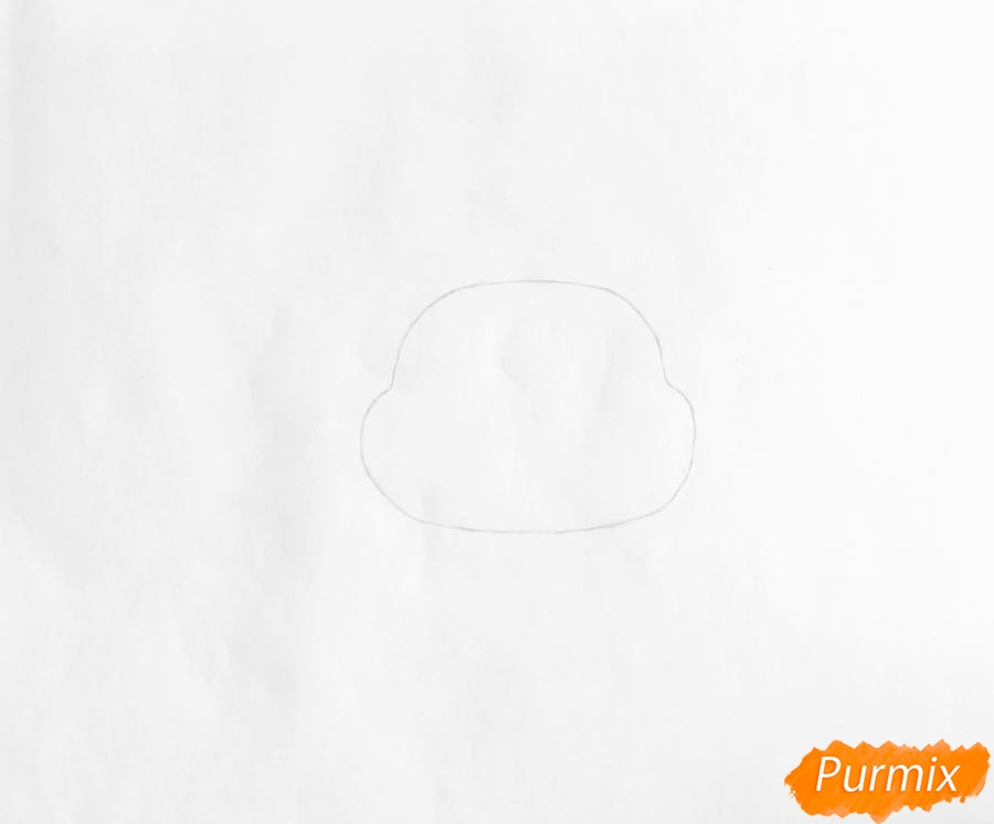 Рисуем мышку Вельвет из мультфильма My Littlest Pet Shop - шаг 1