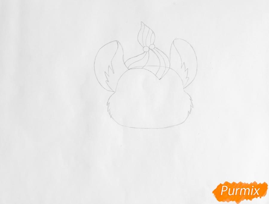 Рисуем мышку Вельвет из мультфильма My Littlest Pet Shop - шаг 2