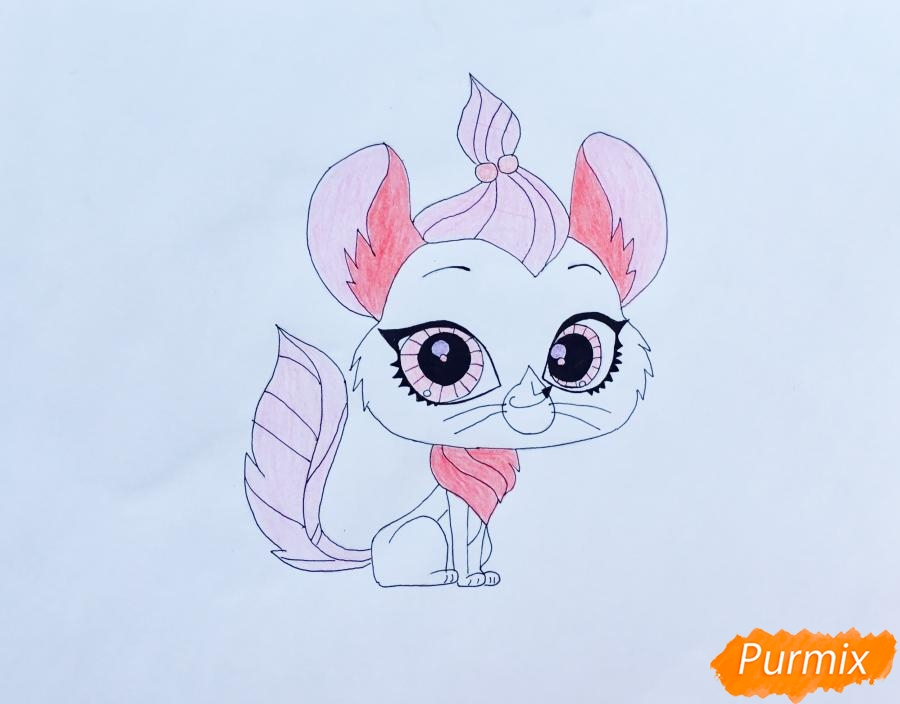 Рисуем мышку Вельвет из мультфильма My Littlest Pet Shop - шаг 6