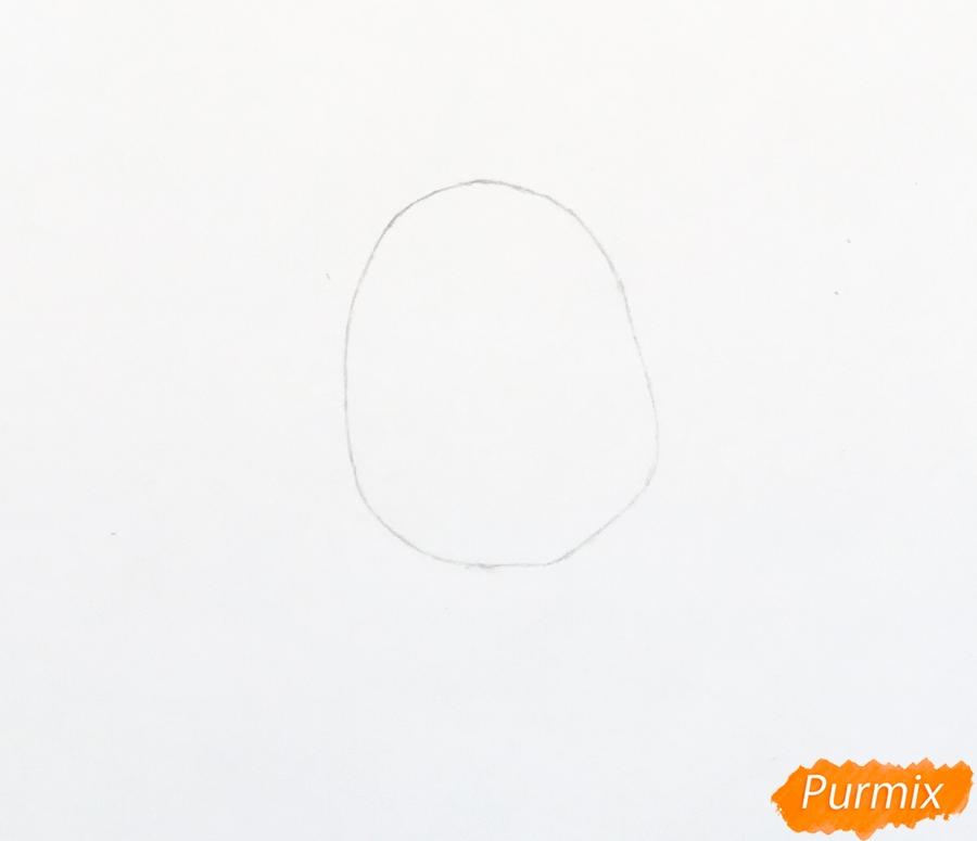 Рисуем новогоднюю Машу в образе снегурочки - шаг 1