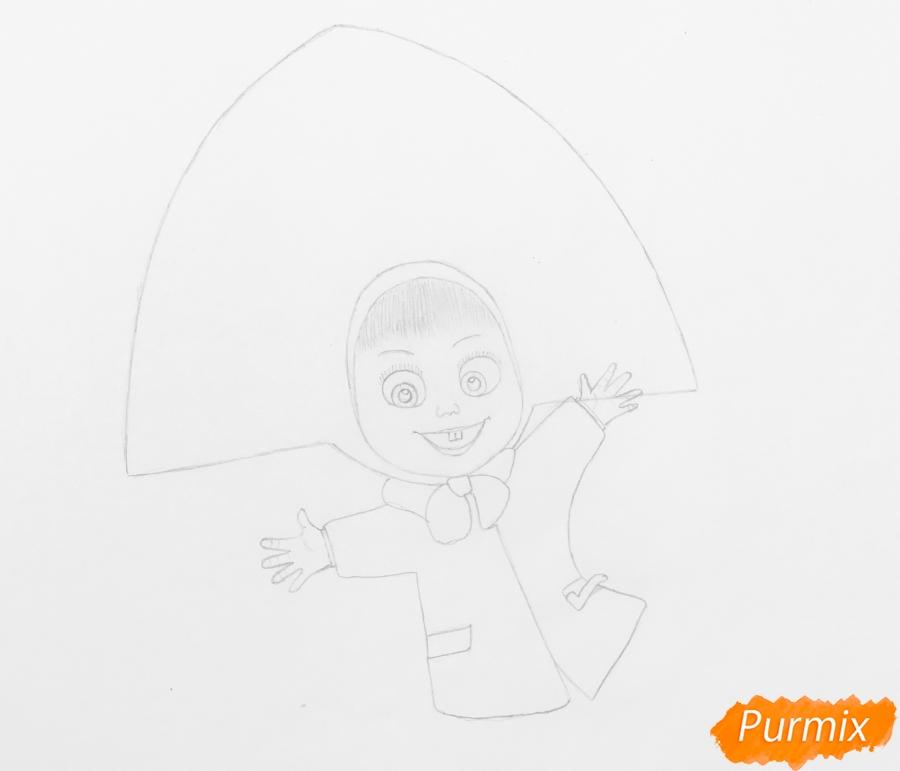 Рисуем новогоднюю Машу в образе снегурочки - шаг 4