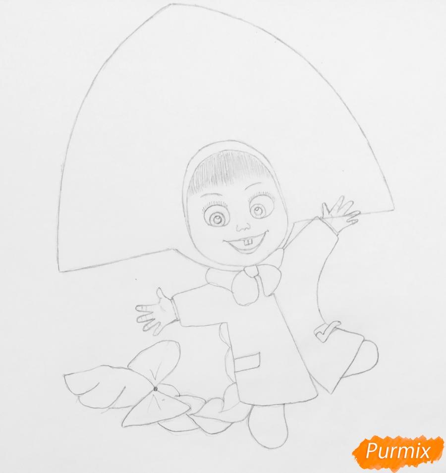 Рисуем новогоднюю Машу в образе снегурочки - шаг 5