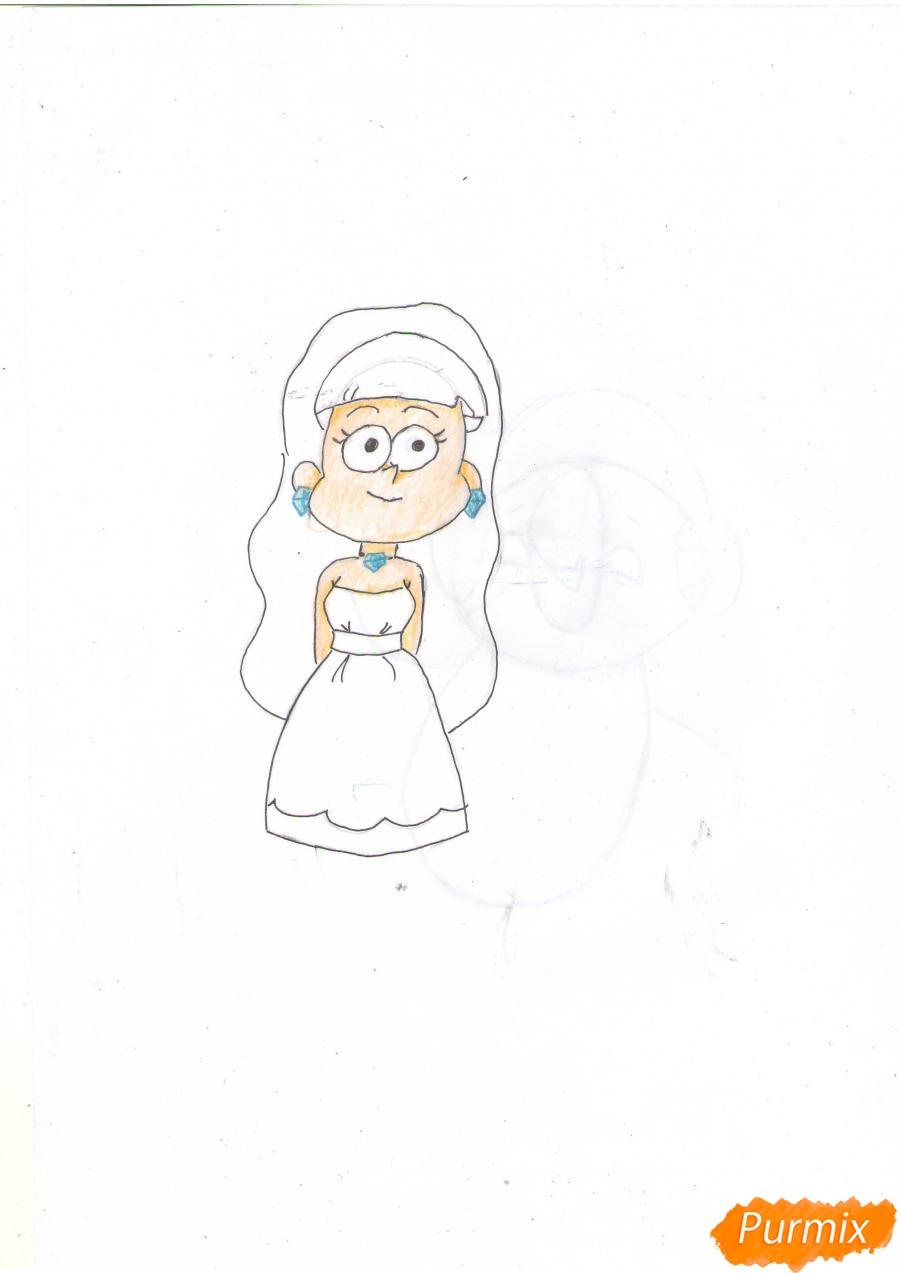 Рисуем Пасифику Нортвест из Гравити Фолз карандашами - шаг 5
