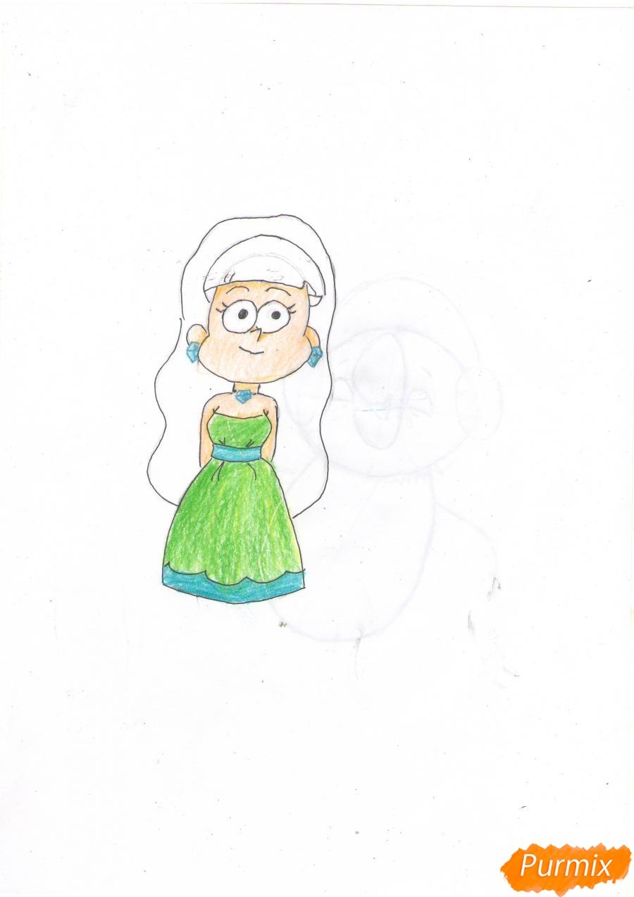 Рисуем Пасифику Нортвест из Гравити Фолз карандашами - шаг 6