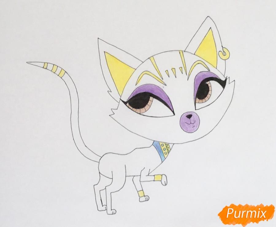 Рисуем Египитскую кошку из мультфильма My Littlest Pet Shop - шаг 6