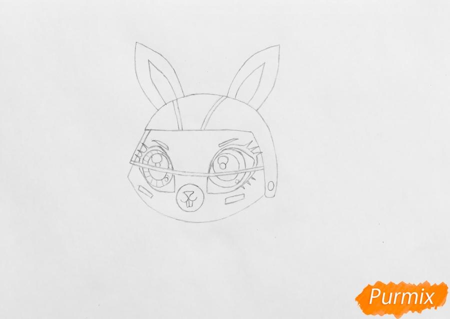 Рисуем кролика Спиди Ниблер из мультфильма My Littlest Pet Shop - шаг 3