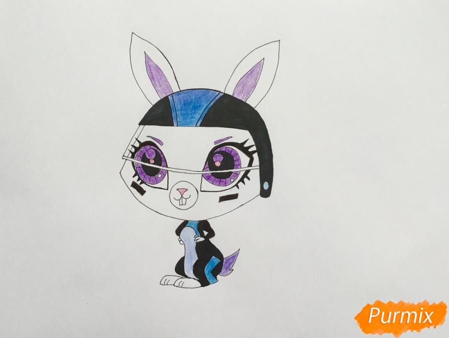 Рисуем кролика Спиди Ниблер из мультфильма My Littlest Pet Shop - шаг 6