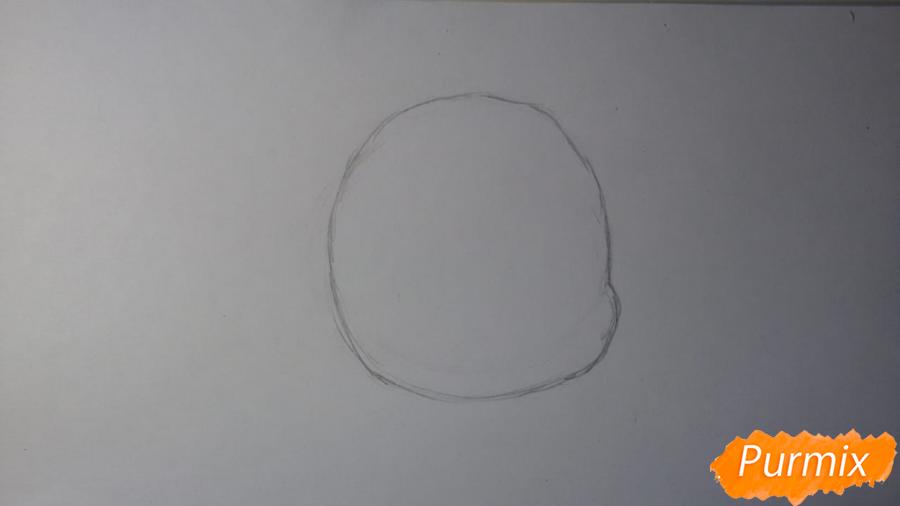 Рисуем Пикси из комикса Пикси и Брут - шаг 1