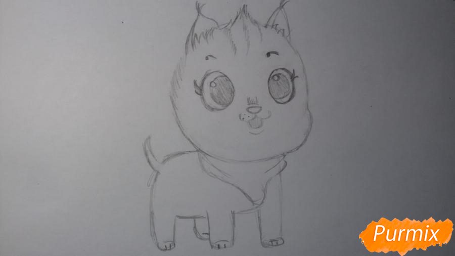 Рисуем Пикси из комикса Пикси и Брут - шаг 4