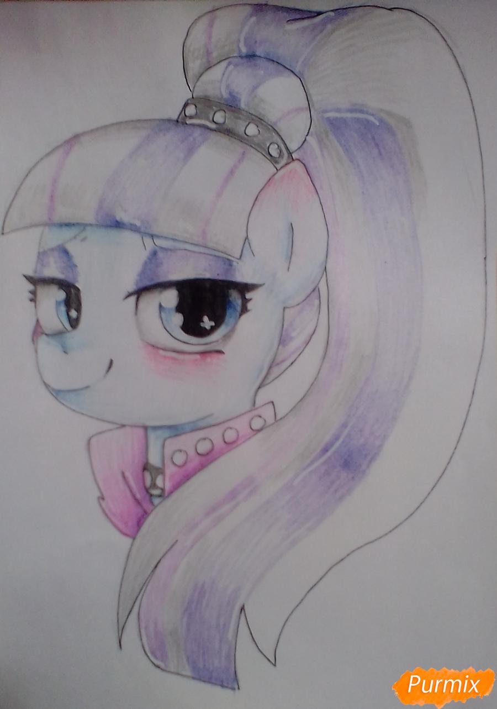 Как нарисовать пони Колоратуру из мультфильма Дружба – это чудо