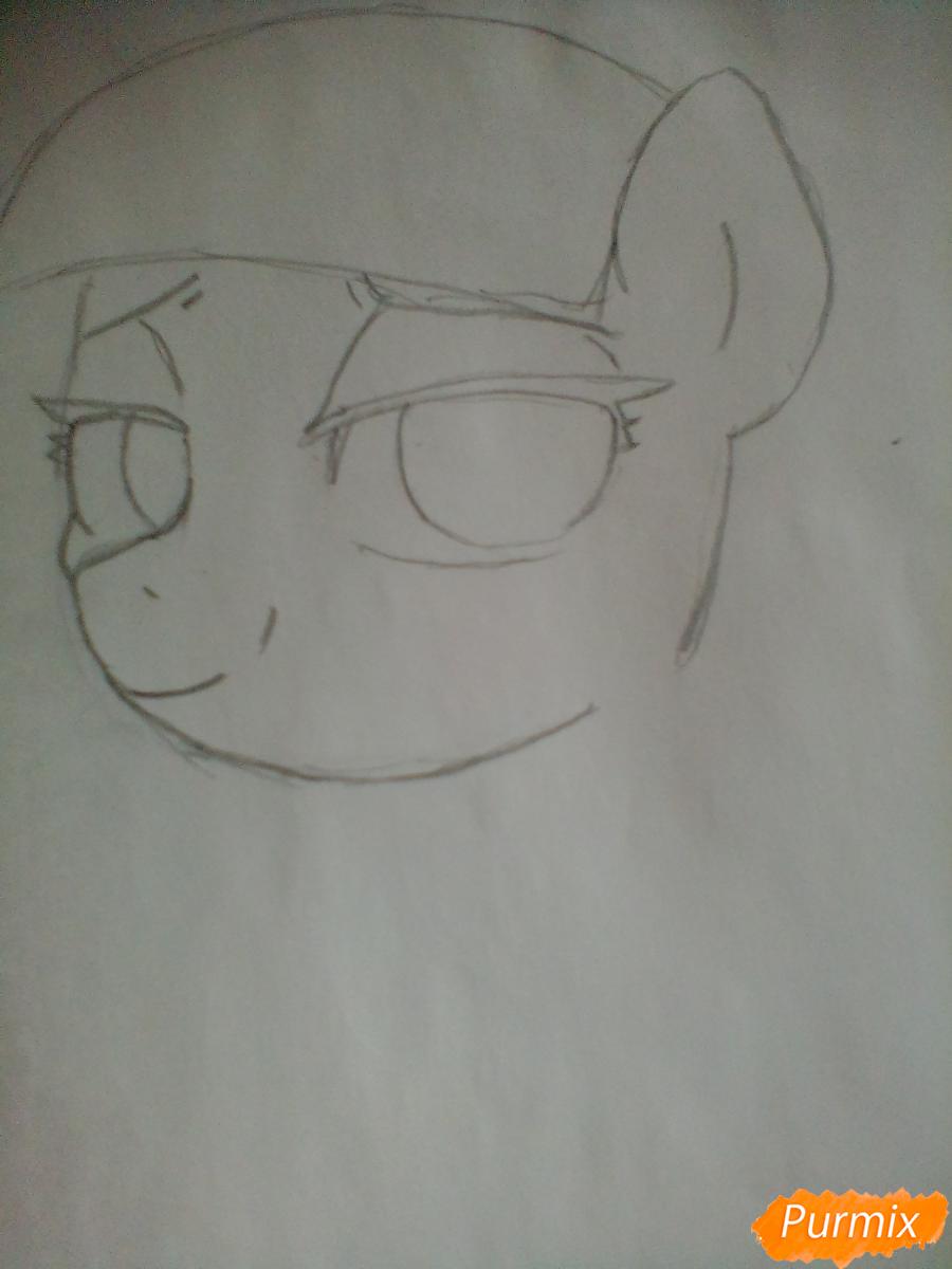 Рисуем пони Колоратуру из мультфильма Дружба – это чудо - шаг 3