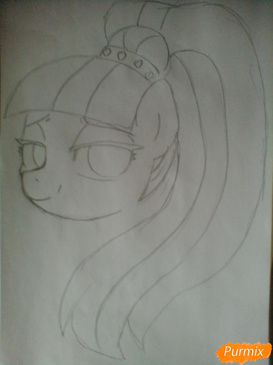 Рисуем пони Колоратуру из мультфильма Дружба – это чудо - шаг 4