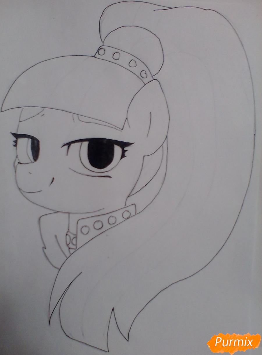Рисуем пони Колоратуру из мультфильма Дружба – это чудо - шаг 6