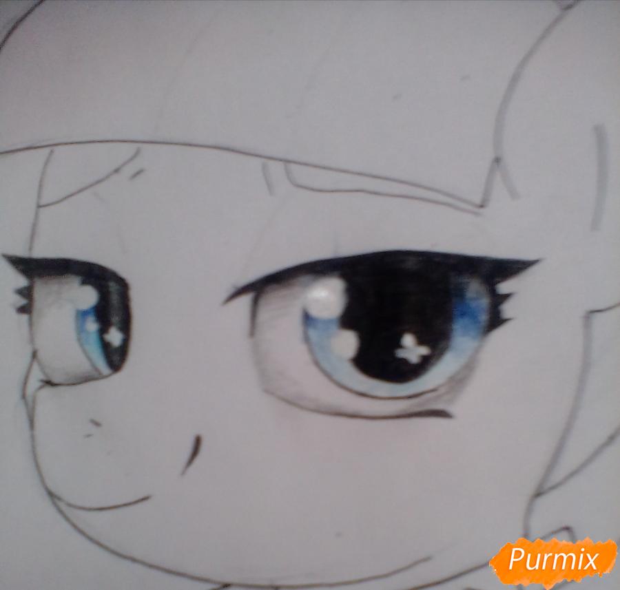 Рисуем пони Колоратуру из мультфильма Дружба – это чудо - шаг 7