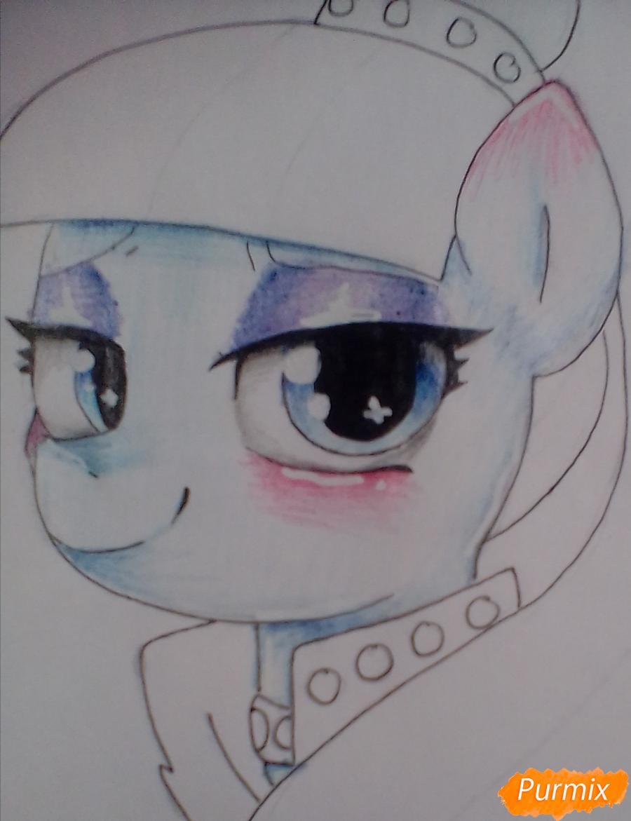 Рисуем пони Колоратуру из мультфильма Дружба – это чудо - шаг 8