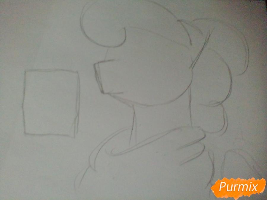 Рисуем пони Луна с чашкой - шаг 1