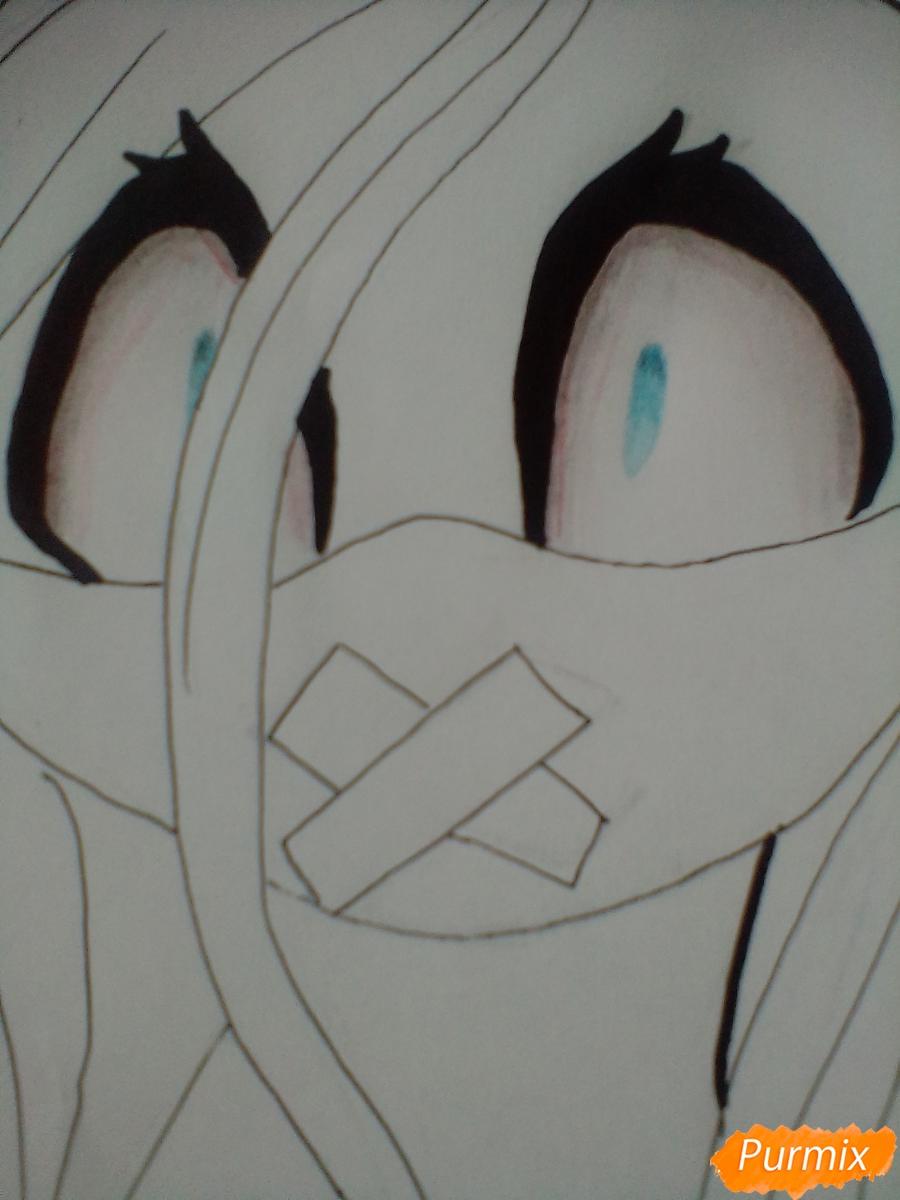 Рисуем пони Пинкамину Диану Пай в маске - шаг 8