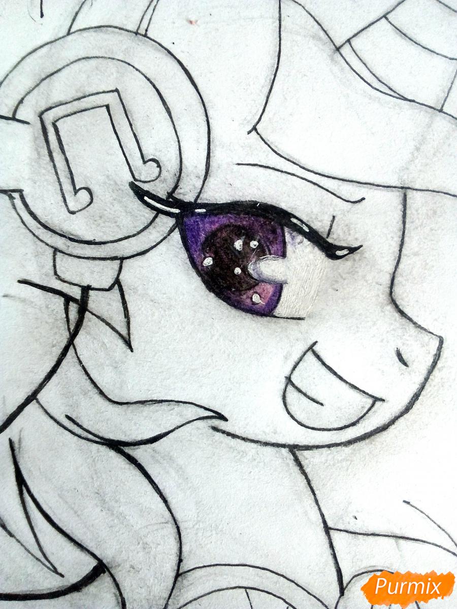 Рисуем пони Винил с наушниками - шаг 7