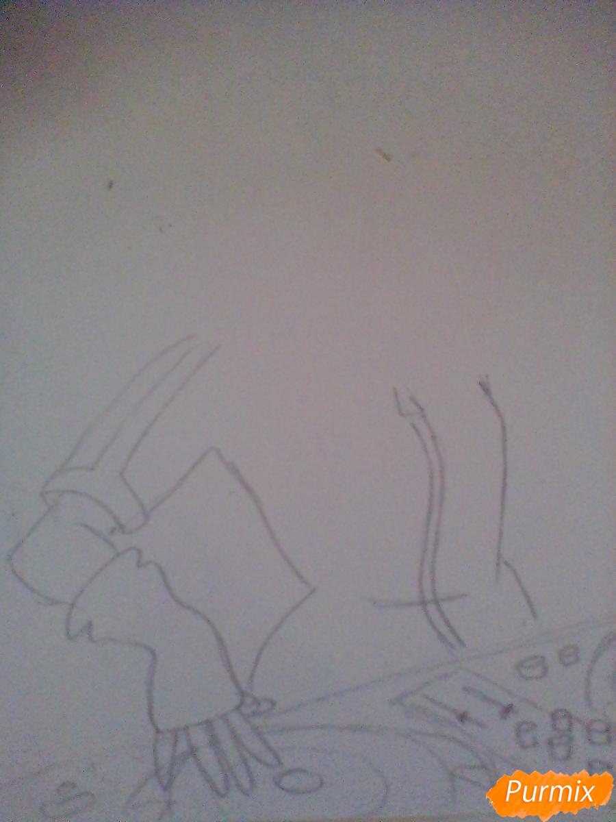 Рисуем пони Винил Скретч в виде девушки - шаг 2