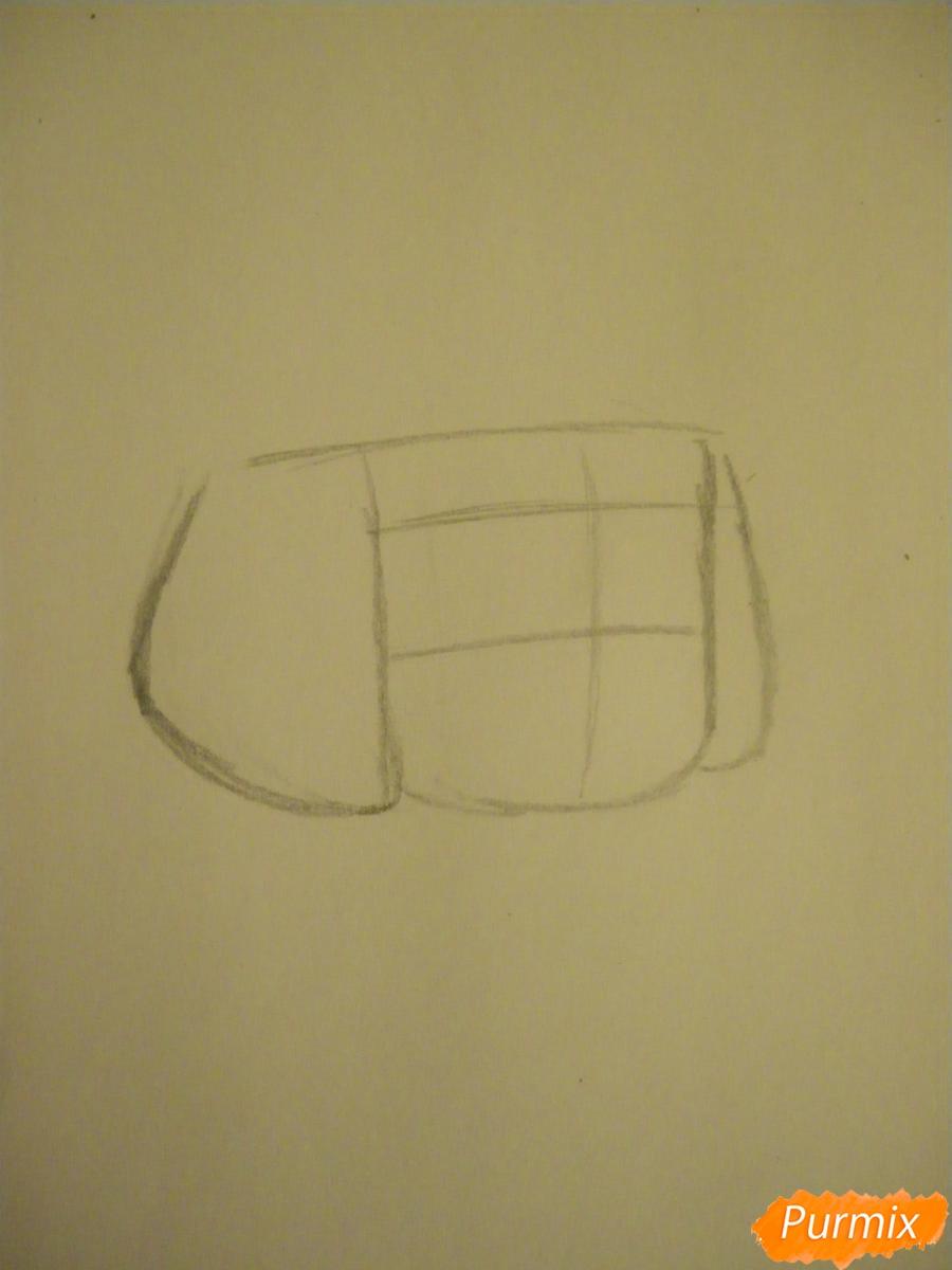 Рисуем Руби из Вселенная Стивена карандашами - шаг 1