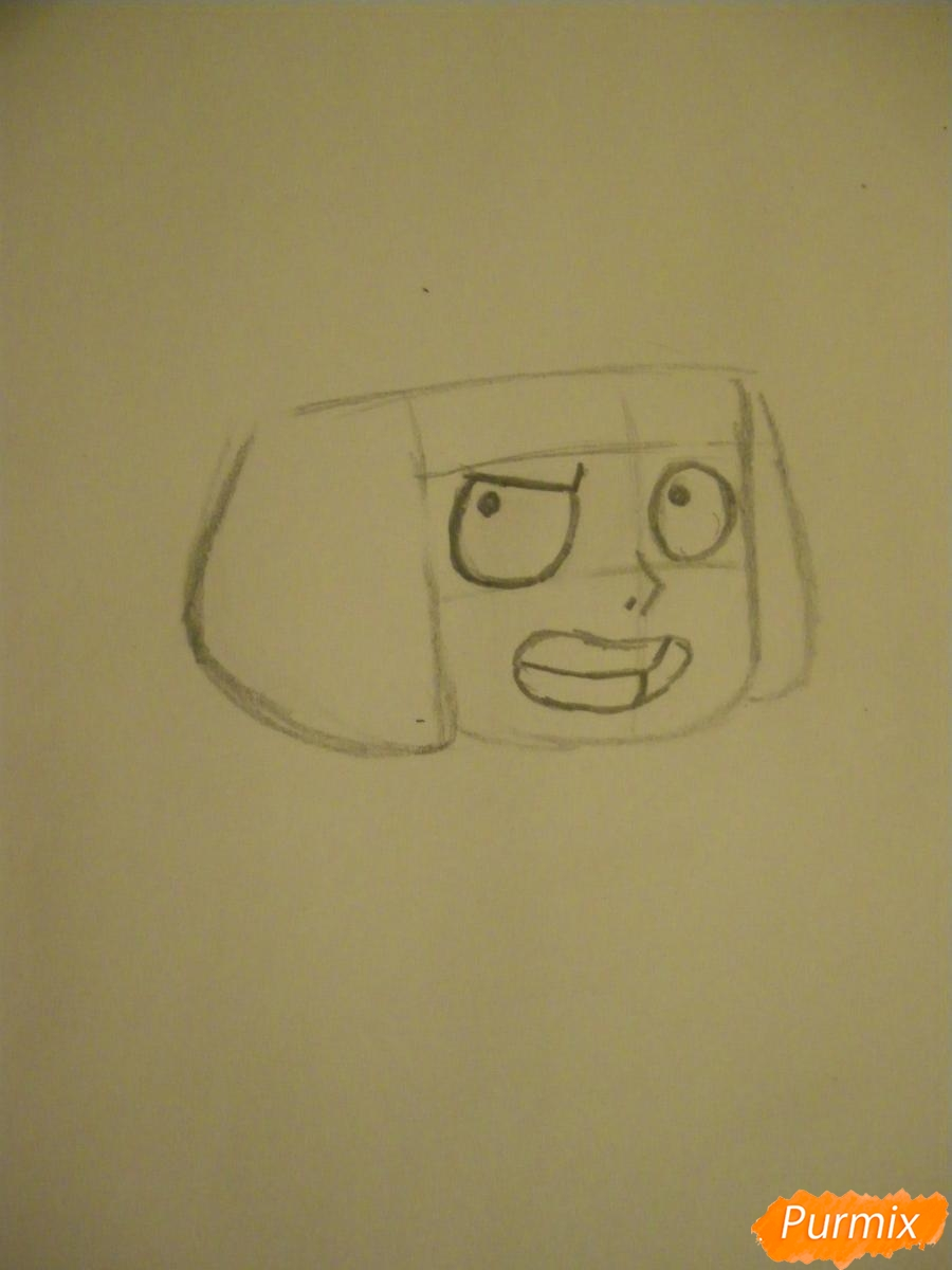 Рисуем Руби из Вселенная Стивена карандашами - шаг 2