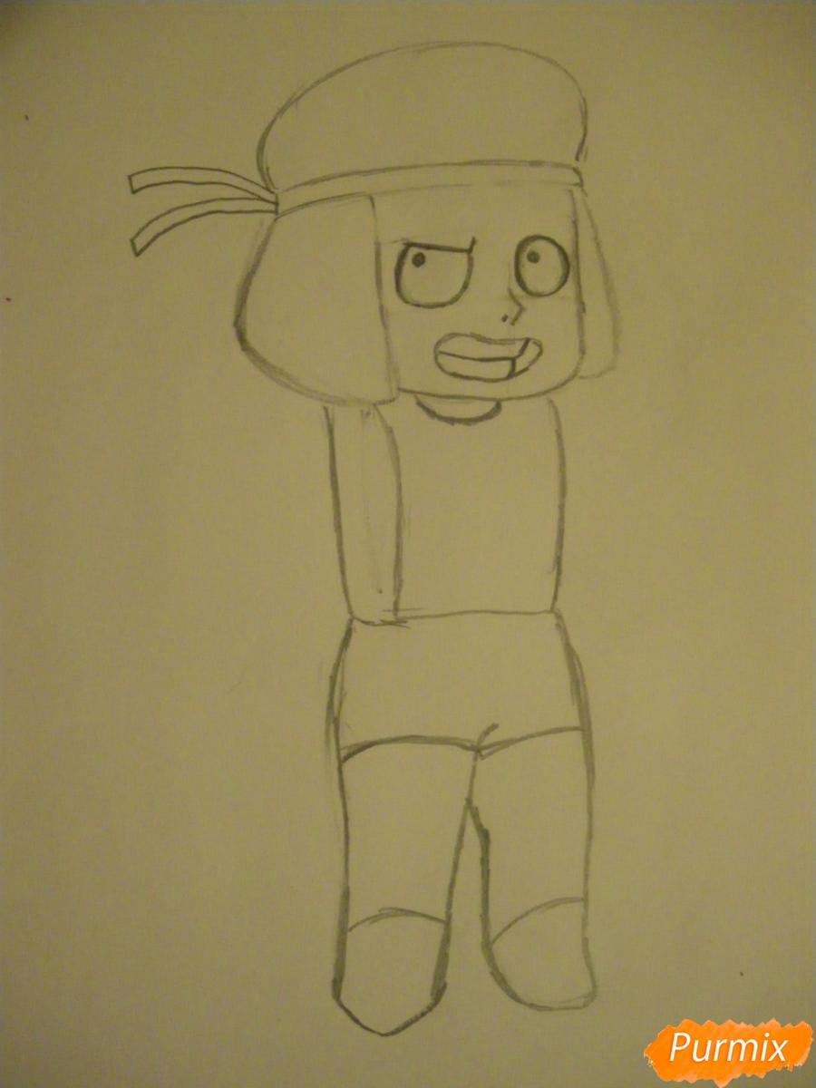 Рисуем Руби из Вселенная Стивена карандашами - шаг 3