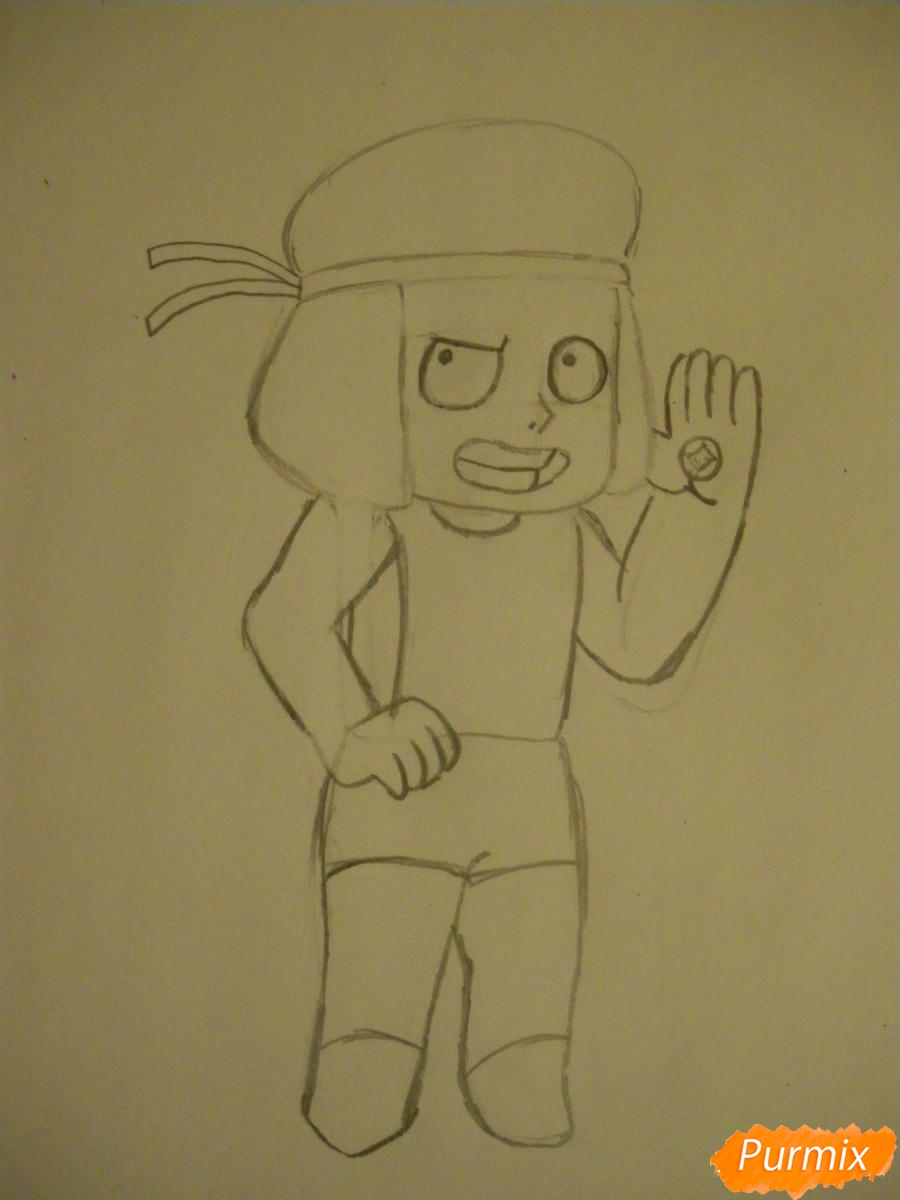 Рисуем Руби из Вселенная Стивена карандашами - шаг 4