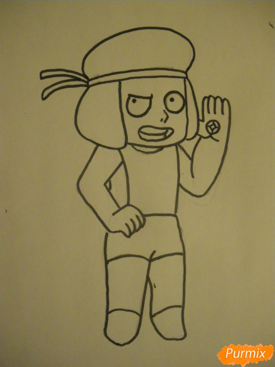 Рисуем Руби из Вселенная Стивена карандашами - шаг 5