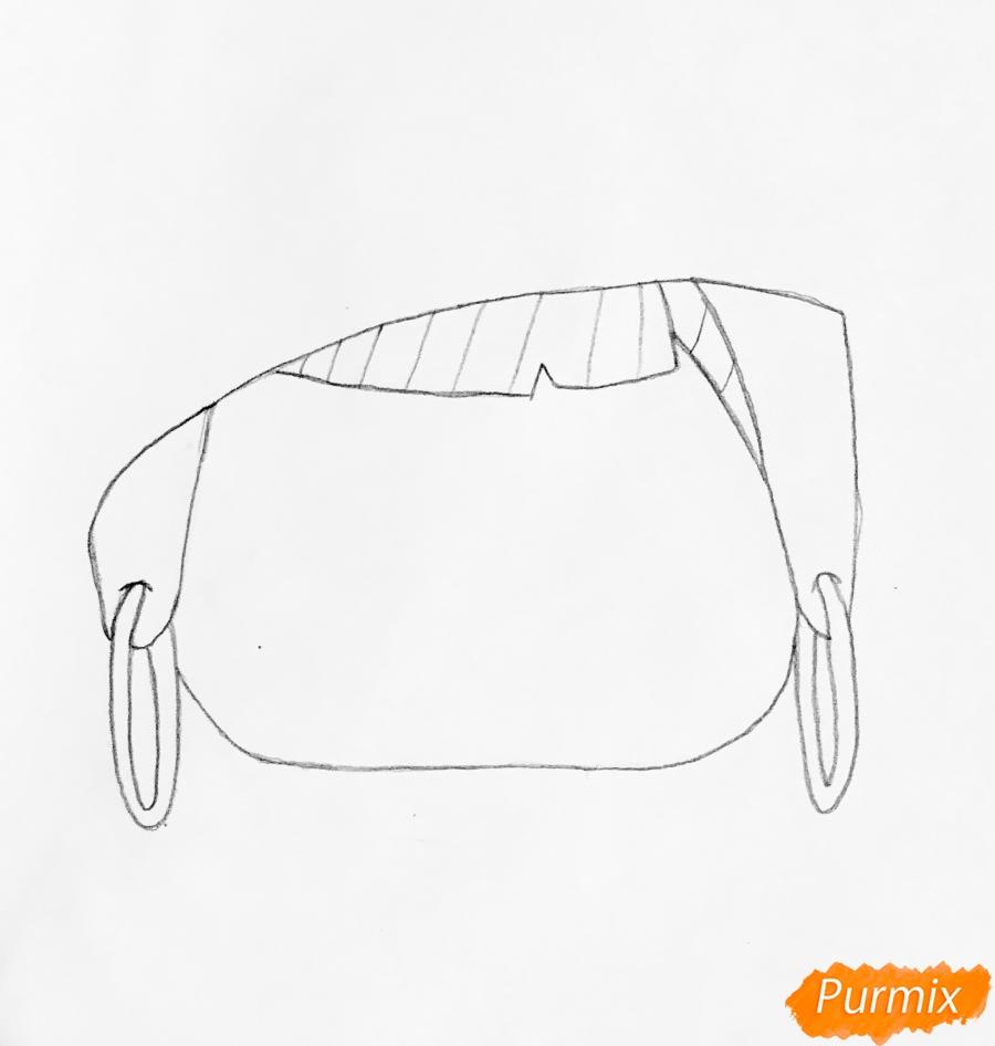 Рисуем серого крольчонка в розовой кепке из мультфильма Lol Pets - шаг 1