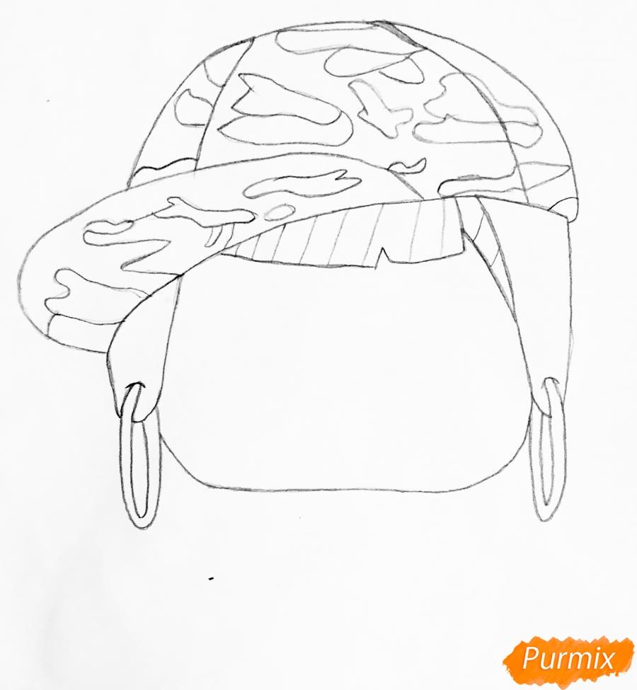 Рисуем серого крольчонка в розовой кепке из мультфильма Lol Pets - шаг 2