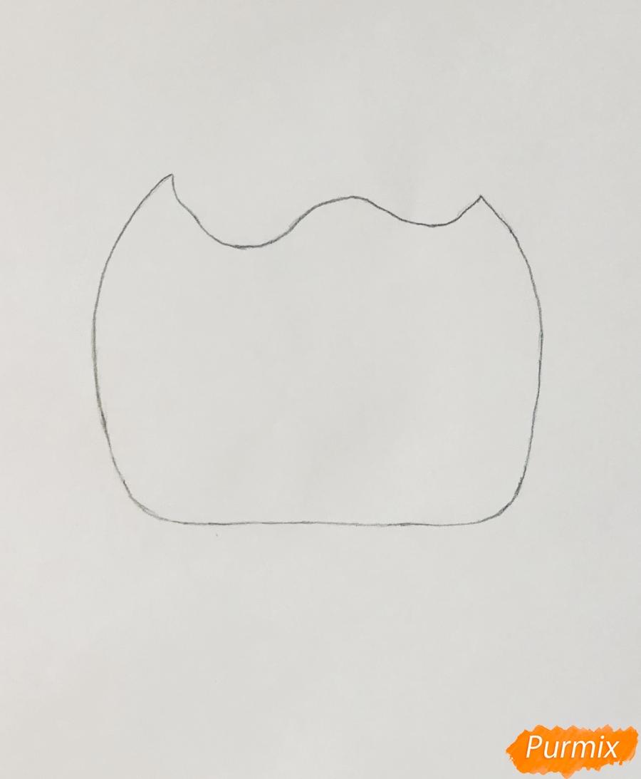 Рисуем модного щеночка далматинца из мультфильма Lol Pets - шаг 1