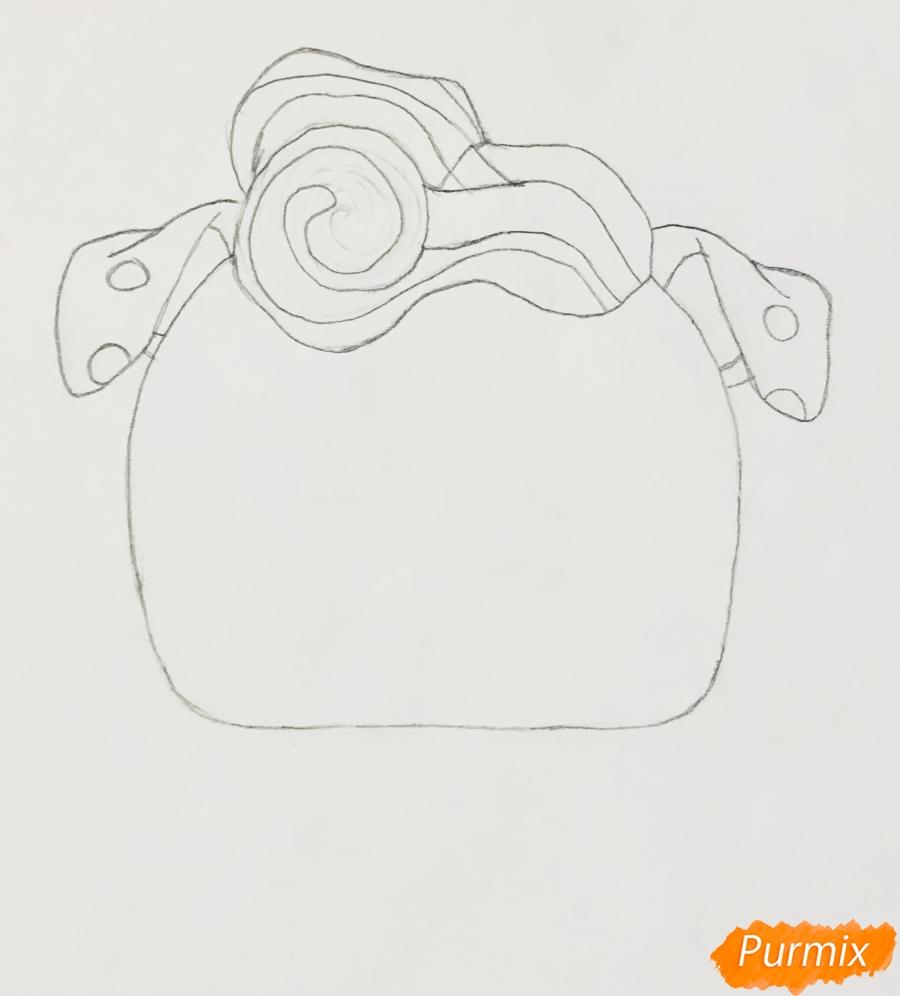 Рисуем модного щеночка далматинца из мультфильма Lol Pets - шаг 2