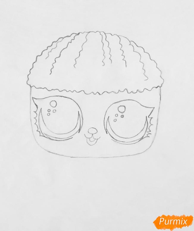 Рисуем милого щеночка породы пудель из мультфильма Lol pets - шаг 3